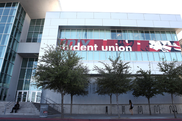 Student Union at University of Nevada, Las Vegas shown after a false alarm triggers an active shooter alert on Wednesday, June 6, 2016. Loren Townsley/Las Vegas Review-Journal Follow @lorentownsley