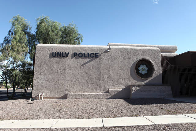 University of Nevada, Las Vegas police station shown after a false alarm triggers an active shooter alert on Wednesday, June 6, 2016. Loren Townsley/Las Vegas Review-Journal Follow @lorentownsley
