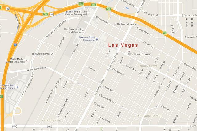 Downtown Las Vegas (Google Maps)