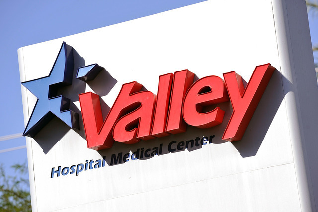 Valley Hospital is seen on Friday, Oct. 17, 2014. (David Becker/Las Vegas Review-Journal)
