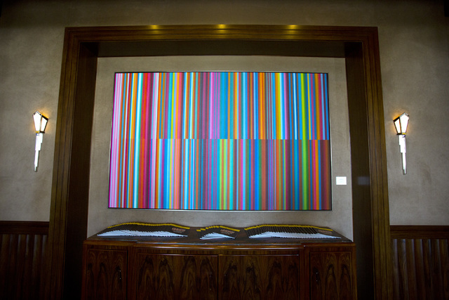 Fanfare (for the  Common Man) art piece created by artist Tim Bavington is seen in the lobby at T The Smith Center for the Performing Arts on Tuesday, July 12, 2016. Jeff Scheid/Las Vegas Review-J ...