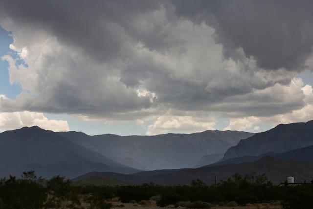 Rain fills Kyle Canyon on Mount Charleston near Las Vegas on Thursday, June 30, 2016. (Brett Le Blanc/Las Vegas Review-Journal Follow @bleblancphoto)