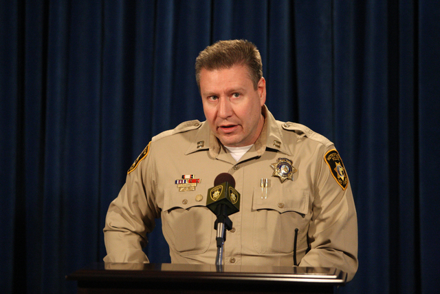 Capt. Chris Tomaino from the Las Vegas Metropolitan Police Department on Wednesday, May 20, 2015 (Michael Quine/Las Vegas Review-Journal)