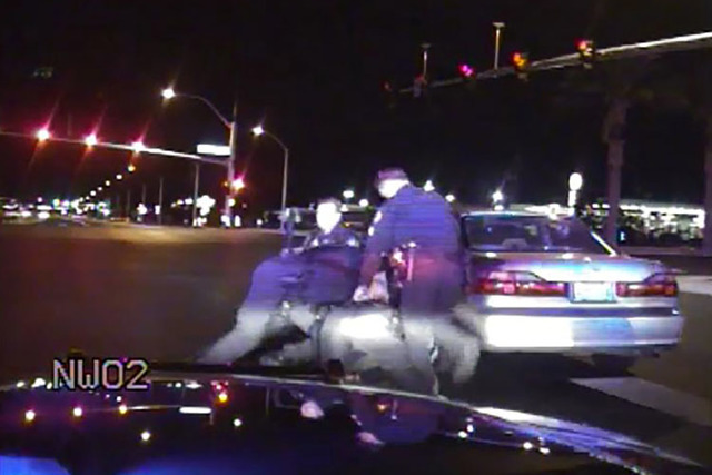 Brett Seekatz is seen in this video, along with Nevada Highway Patrol troopers and Henderson police officers, mistaking a man suffering a diabetic episode for a drunken driver during a traffic sto ...