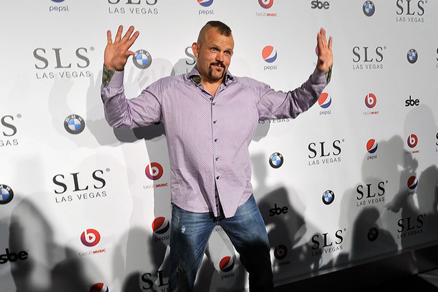 Former mixed martial artist Chuck Liddell, seen here in 2014, says the UFC has had a lot of problems lately, but strong upcoming fighters should turn things around. (David Becker/Las Vegas Review- ...