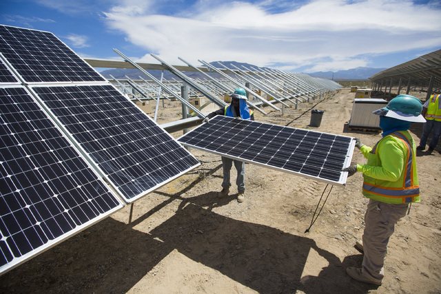 Valley Electric Association, Inc.'s 15-megawatt facility will include 54,000 photovoltaic panels across 80 acres and will provide a local renewable generation source to VEA's members. (Special t ...