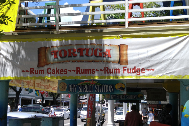 A restaurant in downtown Nassau, Bahamas, has plenty of rum to offer. (Mark Anderson/Las Vegas Review-Journal)