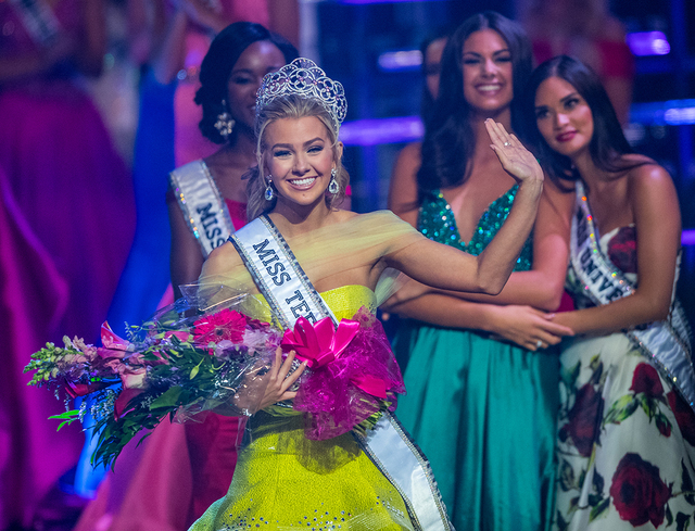 The 2016 Miss Teen USA Pageant on Saturday, July 30, 2016, at The Venetian Theater. Karlie Hay of Texas, pictured here, was crowned Miss Teen USA. (Tom Donoghue)