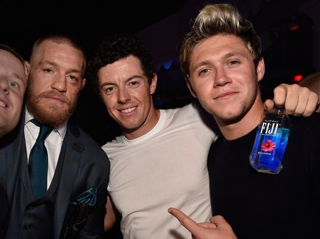Conor McGregor, Rory McIlroy and Niall Horan at Intrigue in Wynn Las Vegas. (David Becker/Getty Images)