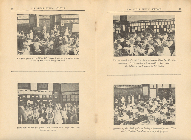 This undated photo shows first- through third-graders going about their lessons at Westside School. (Courtesy City of Las Vegas)