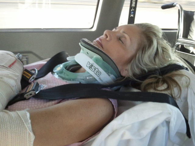 Tracy Rodgers survived a June 23, 2011, car accident on Interstate 15 between Las Vegas and Mesquite, undergoing 39 surgeries on her path to compete in the Sept. 3 Ms. America pageant in Californi ...