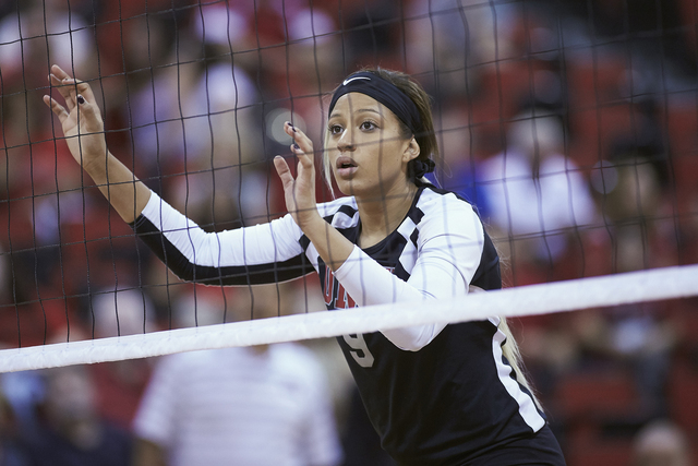 UNLV women's volleyball player Bree Hammel is shown on Sept. 11, 2105, at Cox Pavilion. (Aaron Mayes/UNLV Photo Services)