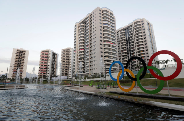 General view of athletes' accommodation can be seen during a guided tour for journalists to the 2016 Rio Olympics Village in Rio de Janeiro, Brazil, July 23, 2016. (Ricardo Moraes/Reuters)