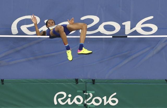2016 Rio Olympics - Athletics - Final - Women's High Jump Final - Olympic Stadium - Rio de Janeiro, Brazil - 20/08/2016. Vashti Cunningham (USA) of USA competes.   REUTERS/Fabrizio Bensch  FOR EDI ...