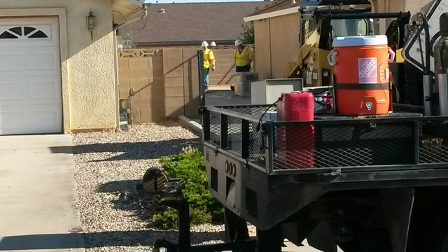 Mohave County authorities began excavating the backyard of a Kingman, Arizona, home on Monday, Aug. 29, 2016, where a homicide victim might be buried. (Dave Hawkins/Special to Las Vegas Review-Jou ...