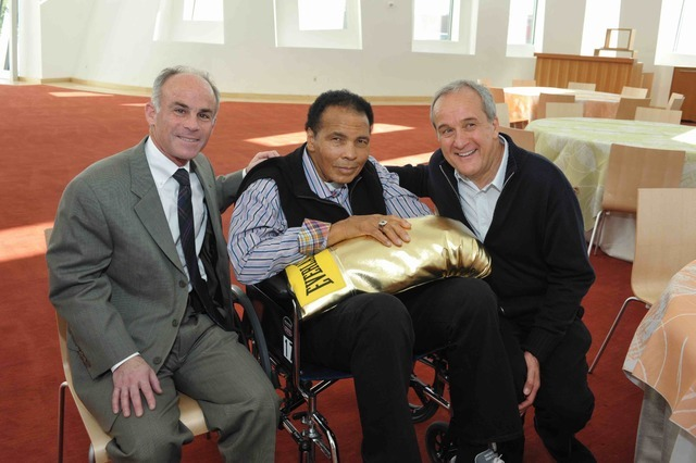 Dr. Charles Bernick, Muhammad Ali and Larry Ruvo at The Cleveland Clinic Lou Ruvo Center for Brain Health in Downtown's Symphony Park.