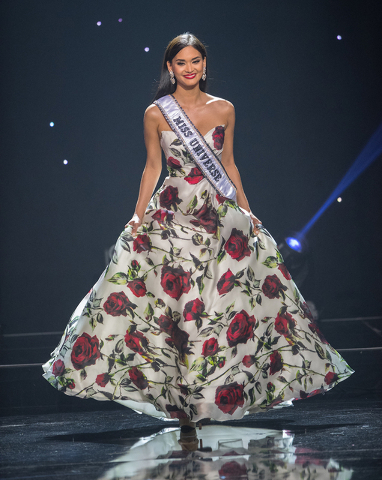 The 2016 Miss Teen USA Pageant on Saturday, July 30, 2016, at The Venetian Theater. Reigning Miss Universe Pia Wurtzbach of The Philippines is pictured here. (Tom Donoghue)