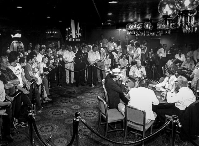 The World Series of Poker at Binion's Horseshoe in Las Vegas is shown in this Las Vegas News Bureau file photo from May 18, 1974. Photo/Las Vegas News Bureau