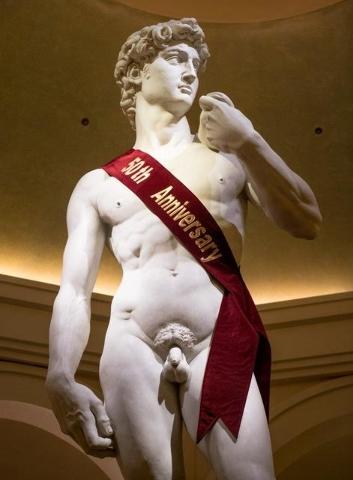 Caesars Palace's 50th anniversary celebration Friday, Aug. 5, 2016, in Las Vegas. (Tom Donoghue)