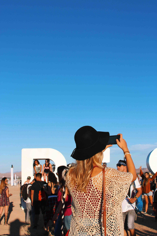 The Rise Lantern Festival in Nevada.