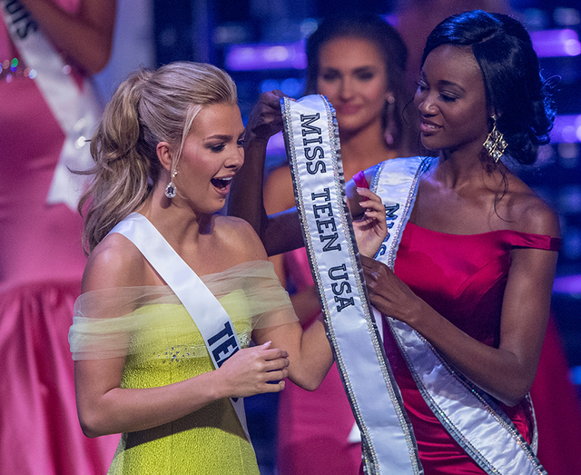 The 2016 Miss Teen USA Pageant on Saturday, July 30, 2016, at The Venetian Theater. Karlie Hay of Texas was crowned Miss Teen USA. (Tom Donoghue)
