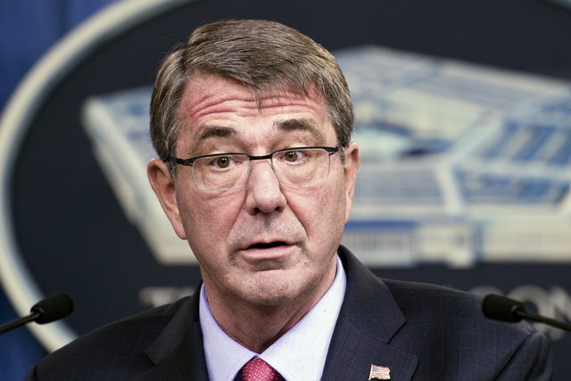 Defense Secretary Ash Carter speaks during a news conference at the Pentagon in Washington, Jan. 28, 2016. (Cliff Owen/AP File)