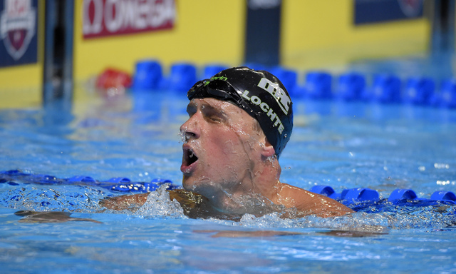 Ryan Lochte reacts after a men's 200-meter freestyle semifinal at the U.S. Olympic swimming trials, Monday, June 27, 2016, in Omaha, Neb. (Mark J. Terrill/AP)
