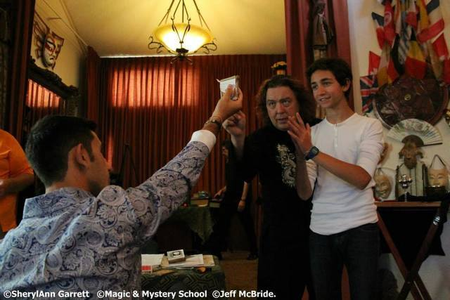 Jeff McBride instructs budding magicians.