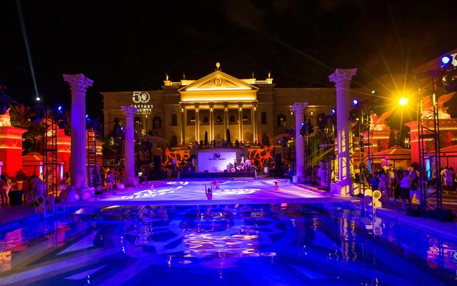 Caesars Palace's 50th anniversary celebration Friday, Aug. 5, 2016, at Garden of the Gods Pool Oasis. (Erik Kabik)