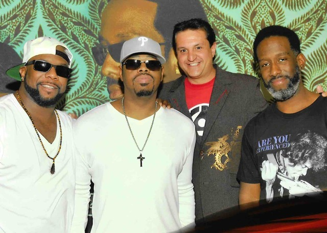 Doug Leferovich, second from right, with The Mirage headliners Boyz II Men.