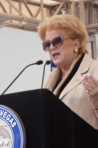 Las Vegas Mayor Carolyn Goodman speaks during a grand opening and dedication ceremony at the Historic Westside School in Las Vegas on Saturday Aug. 27, 2016. (Jeferson Applegate/Las Vegas Review-J ...