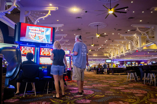 People play games inside the Primm Valley Resort and Casino on Tuesday, Aug. 23, 2016, in Primm, Nevada. Elizabeth Page Brumley/Las Vegas Review-Journal Follow @ELIPAGEPHOTO