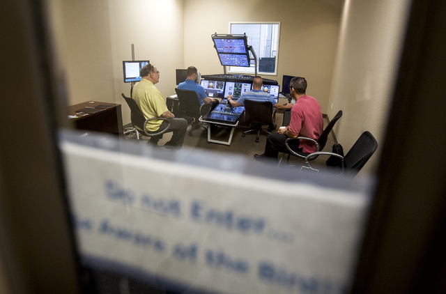 Pilots go training at the Allegiant Airlines flight simulator facility in Las Vegas on Thursday, Aug. 4, 2016.  (Jeff Scheid/Las Vegas Review-Journal) Follow @jeffscheid
