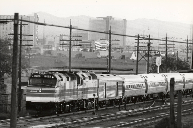 An Amtrak train is seen in this undated file photo. Las Vegas Review-Journal archives.