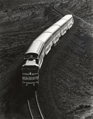 An Amtrak train is seen in this file photo on Sept. 27, 1993. (Wayne Kodey/Las Vegas Review-Journal)