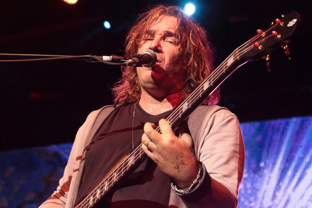 Billy Sherwood of the band Yes performs in concert at Pier Six Pavilion on Wednesday, Aug. 12, 2015, in Baltimore. (Photo by Owen Sweeney/Invision/AP)