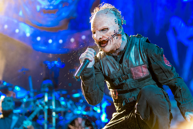 Corey Taylor of Slipknot performs during Day 2 of the 2015 Knotfest USA at San Manuel Amphitheater on Sunday, Oct. 25, 2015 in San Bernardino, Calif. (Paul A. Hebert/Invision/AP)