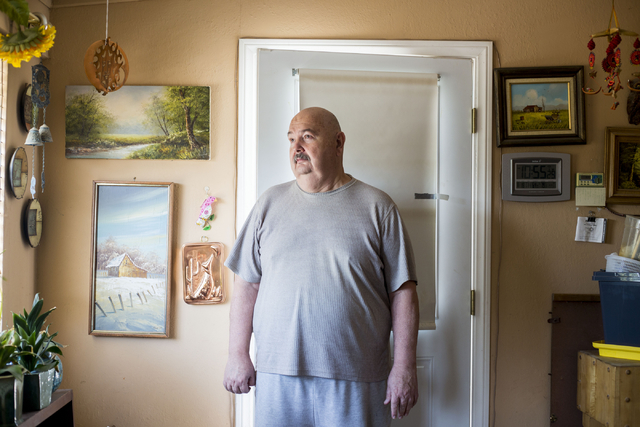Fred Dunham, former Area 51 security guard, poses for a portrait at his home Thursday, Aug. 18, 2016, in Las Vegas. Elizabeth Page Brumley/Las Vegas Review-Journal Follow @ELIPAGEPHOTO