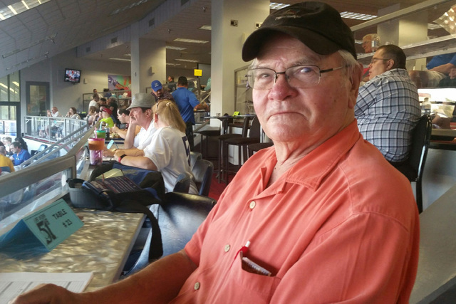 Art Santo Domingo of Las Vegas is shown at a Las Vegas 51s game at Cashman Field against Albuquerque on July 7, 2016. Santo Domingo is an official scorer for the San Francisco Giants and Oakland A ...