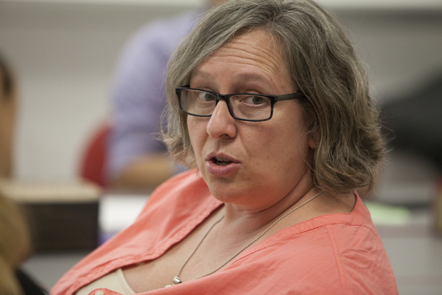 Leah Warfield, a 7th and 8th grade English teacher, speaks to her classmates at the Teach for America training program on Tuesday, June 2, 2016, at the University of Nevada, Las Vegas.  (Loren Tow ...