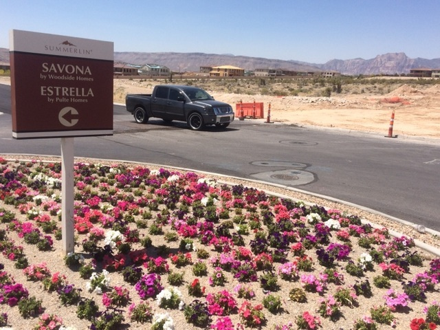 The intersection of Antelope Ridge and Desert Foothills is seen in June 2016. The school, which can hold 850 students, will help relieve overcrowding at three Summerlin schools: Givens, Staton and ...