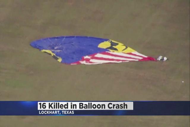 Sixteen people were killed after a hot air ballon crash near Maxwell, Texas. (Inform)