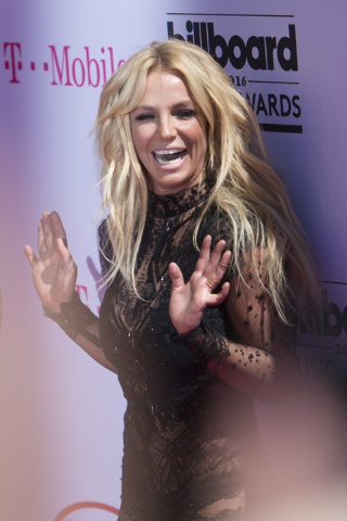 Britney Spears poses on the red carpet during the Billboard Music Awards at T-Mobile Arena in Las Vegas in May. (Jason Ogulnik/Las Vegas Review-Journal File)