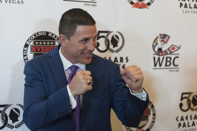 Joey Gilbert poses on the red carpet before the Nevada Boxing Hall of Fame induction ceremony at Caesars Palace in Las Vegas Saturday, July 30, 2016. (Jason Ogulnik/Las Vegas Review-Journal)