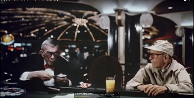 """In 1984's """"Oh, God! You Devil,"""" both title characters -- both played by George Burns -- engage in a poker game for control of a rock musician's soul. (Warner Bros.)"""