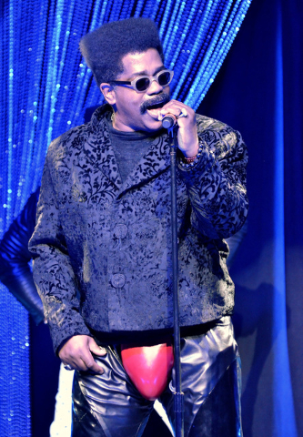 Larry Blackmon of Cameo performs at the Westgate Las Vegas hotel-casino at 3000 Paradise Road on Thursday, March 10, 2016. (Bill Hughes/Las Vegas Review-Journal)