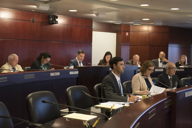 Legislative panelists meet to discuss reorganization plans for the Clark County School District at the Sawyer Building in Las Vegas Tuesday, Aug. 16, 2016. Jason Ogulnik/Las Vegas Review-Journal