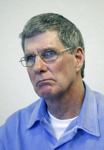 This Nov. 16, 2011, file photo shows Charles Tex Watson during a parole hearing at Mule Creek State Prison in Ione, Calif.  The former Manson family member is serving a life sentence for his role  ...