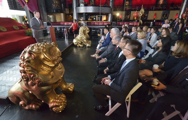 Las Vegas Convention and Visitors Authority president and CEO Rossi Ralenkotter speaks at a press conference at Drai's in the Cromwell hotel-casino at 3595 S. Las Vegas Blvd. on Wednesday,  ...