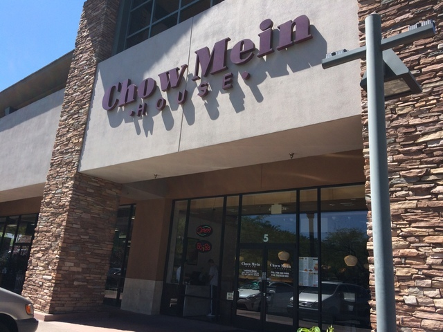 Chow Mein House is shown at 10300 W. Charleston Blvd., Suite 5. Jan Hogan/View